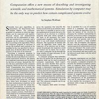 1984: Predicting the potential for computers in science and mathematics…
