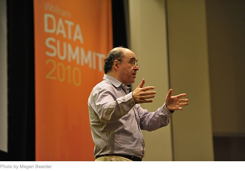 Stephen Wolfram delivers the keynote address at the Wolfram Data Summit 2010