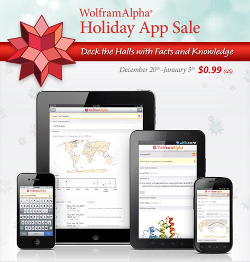 Wolfram|Alpha Holiday App Sale