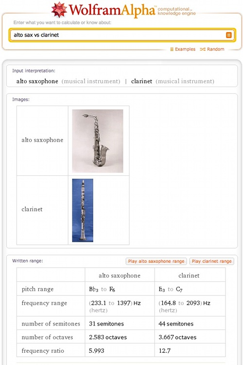 Comparing alto sax and clarinet