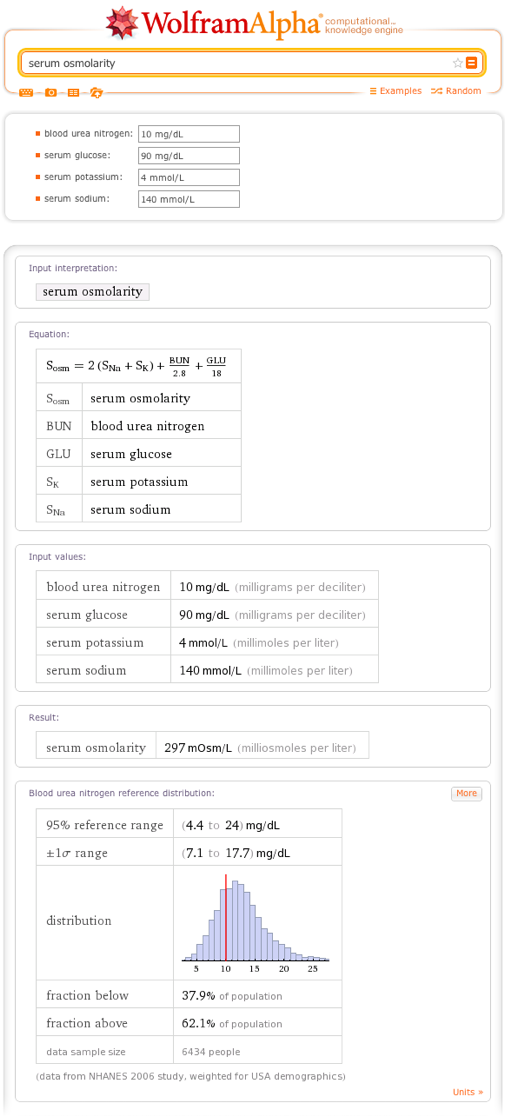 serum osmolarity