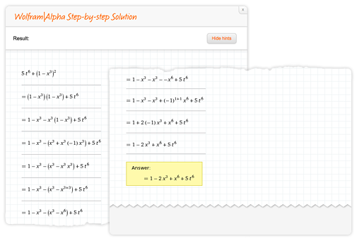Wolfram Alpha Step-by-step Solution
