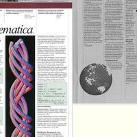 Sept. 1989: The first Mathematica print advertisement…
