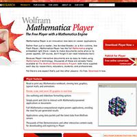 2008: Mathematica Player debuts…