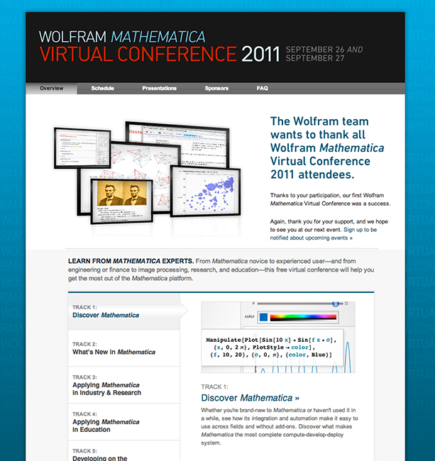 Wolfram Mathematica Virtual Conference 2011