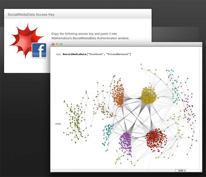 Social network graph created with Mathematica 9