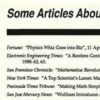 December 1988: Early list of articles about Mathematica