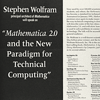 1991: Stephen Wolfram speaks on Mathematica 2.0 and the new paradigm of technical computing