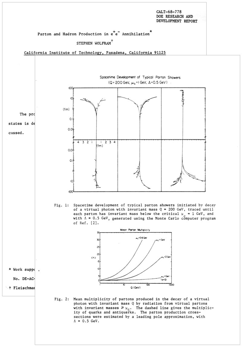 The life and times of Stephen Wolfram. 1980: Seeing the quarks (and gluons)...
