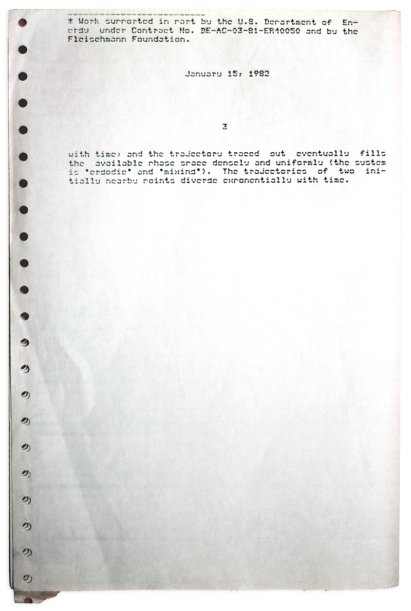 "The life and times of Stephen Wolfram. 1981: Beginning to write about ""complex structures"" (with a word processor)..."