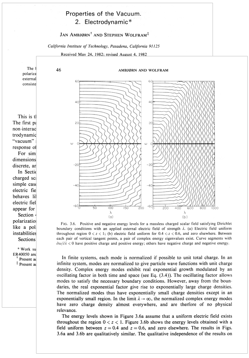 The life and times of Stephen Wolfram. 1982: Numerical computation in the service of quantum field theory...