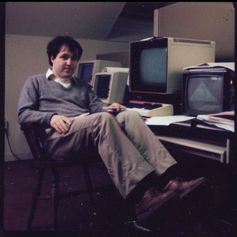 The life and times of Stephen Wolfram. 1984: Cellular automata on a Sun-2 upstairs from Einstein's old office...