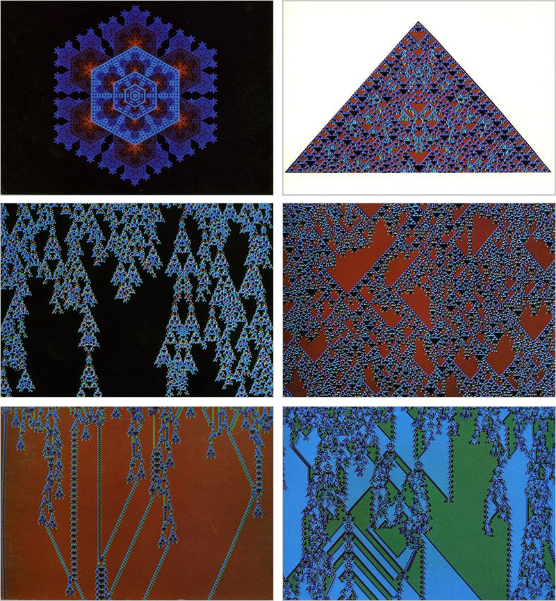 The life and times of Stephen Wolfram. 1984: The business of cellular automata: commemorative postcards...