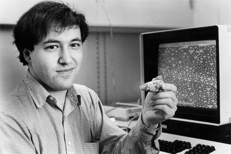 The life and times of Stephen Wolfram. 1984: Yes, the shell looks like the cellular automaton on the screen...