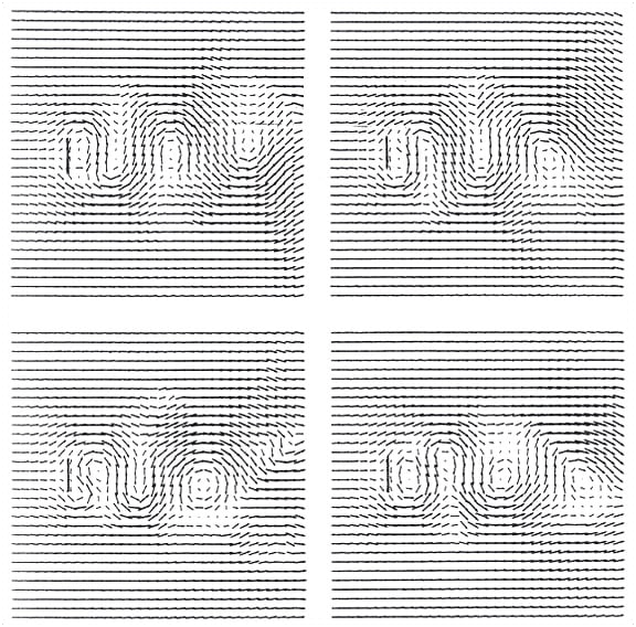 Stephen Wolfram Scrapbook. 1985: Applying cellular automata to fluid flow...