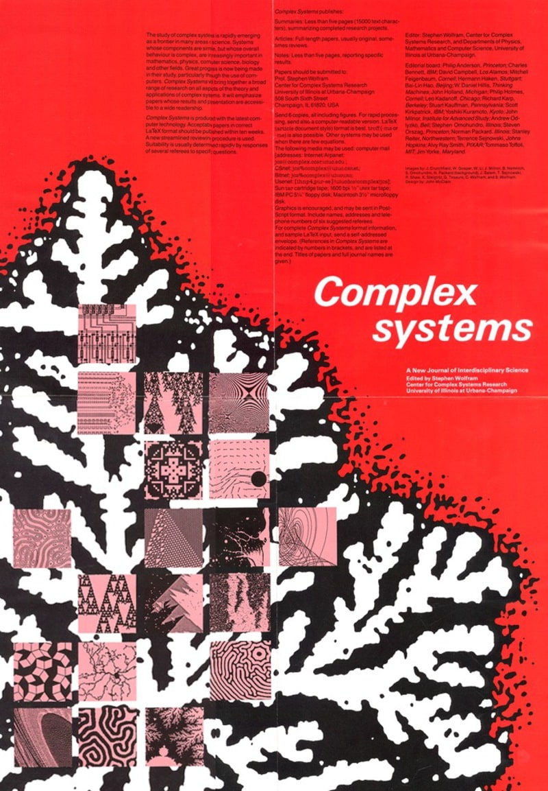The life and times of Stephen Wolfram. 1986: Starting a journal, Complex Systems
