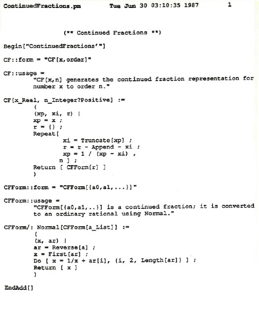 The life and times of Stephen Wolfram. 1987: Mathematica is alive! Programs in Mathematica before it was Mathematica...