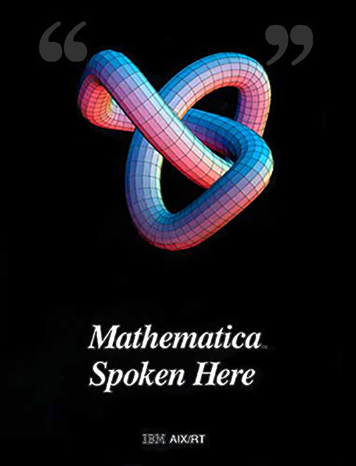 The life and times of Stephen Wolfram. 1988: The first Mathematica poster...