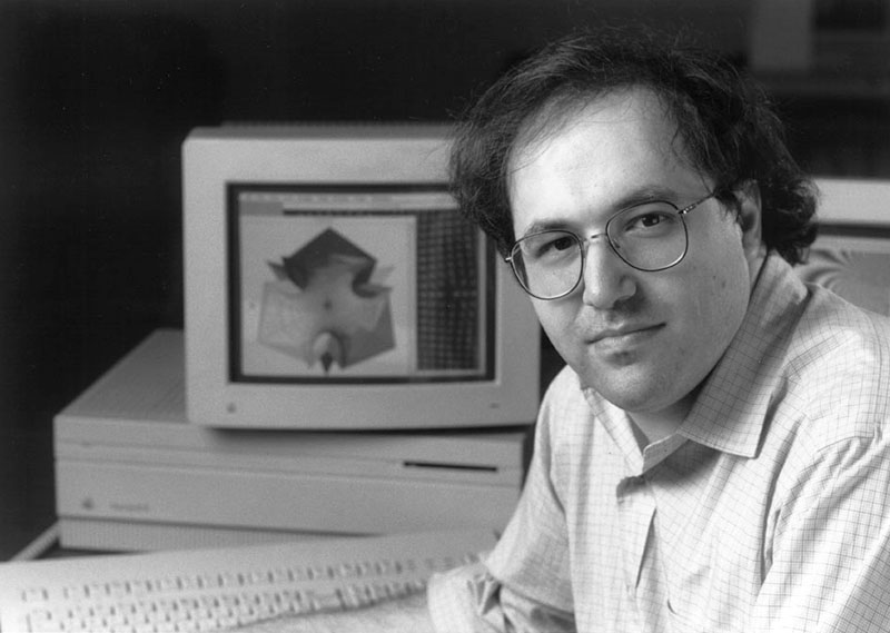 The life and times of Stephen Wolfram. 1991: Posing for the release of Mathematica 2...