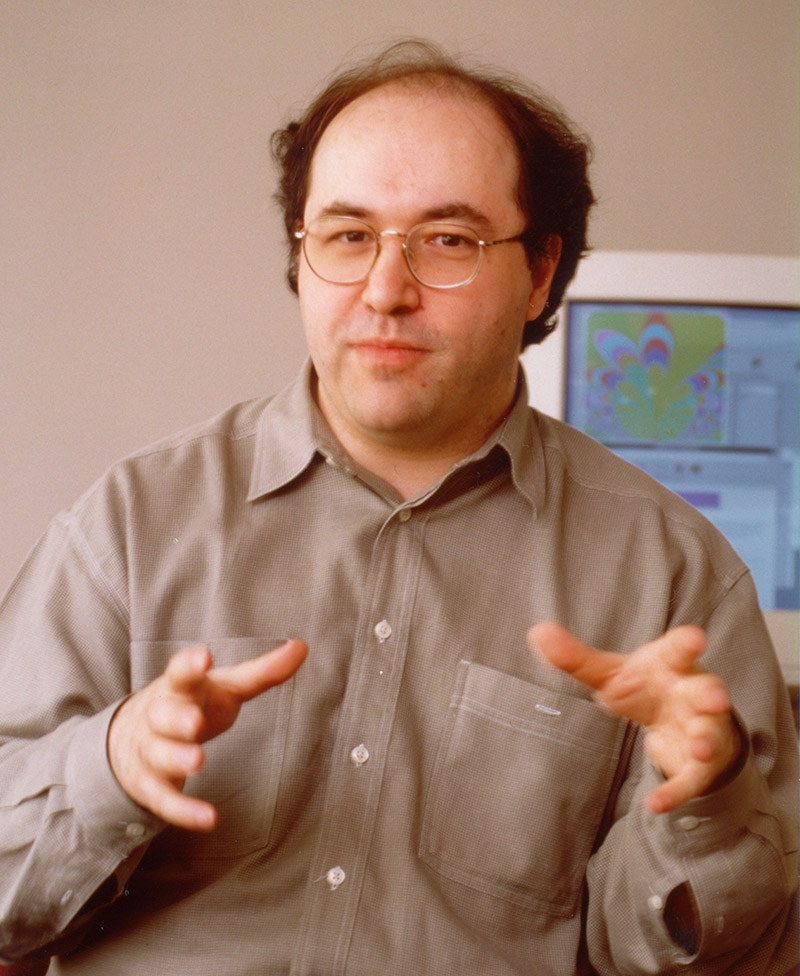 The life and times of Stephen Wolfram. 1996: Making a point in an interview...