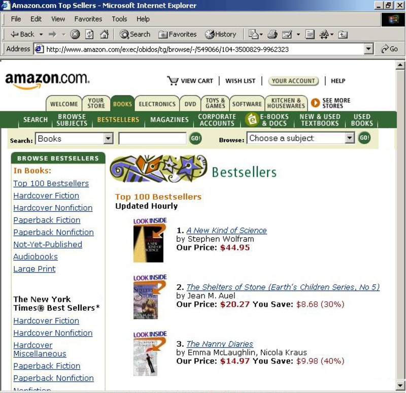 The life and times of Stephen Wolfram. 2002: NKS is #1 on Amazon...