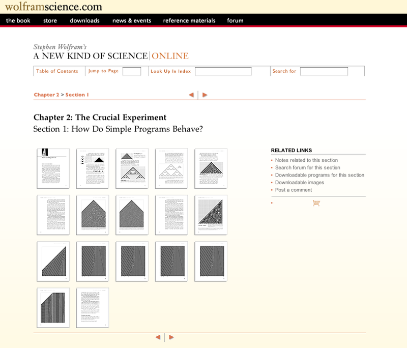 The life and times of Stephen Wolfram. 2004: The NKS book goes online...