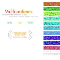 2005: WolframTones is launched…