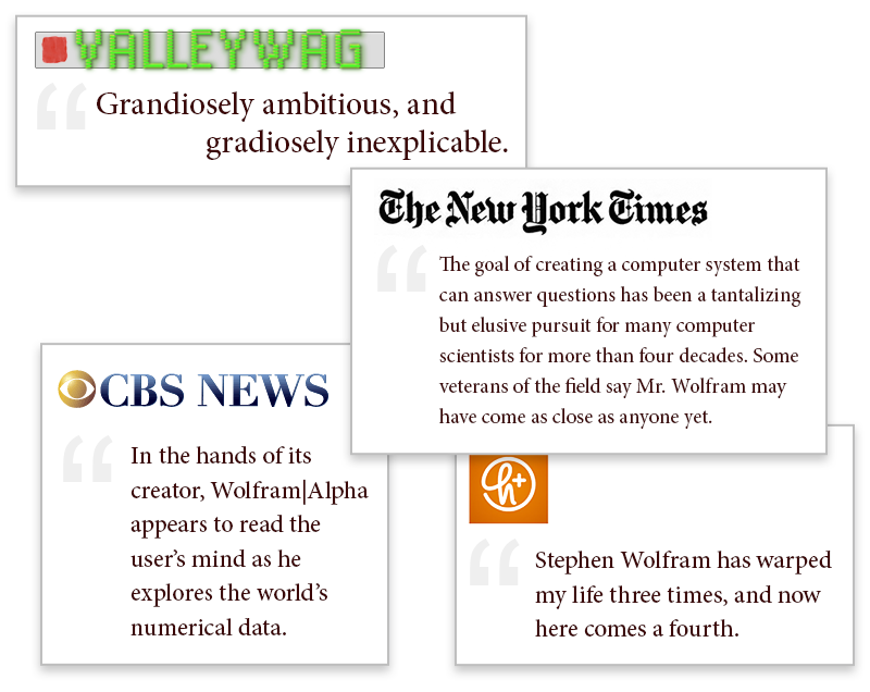 The life and times of Stephen Wolfram. 2009: Anticipation builds for Wolfram|Alpha