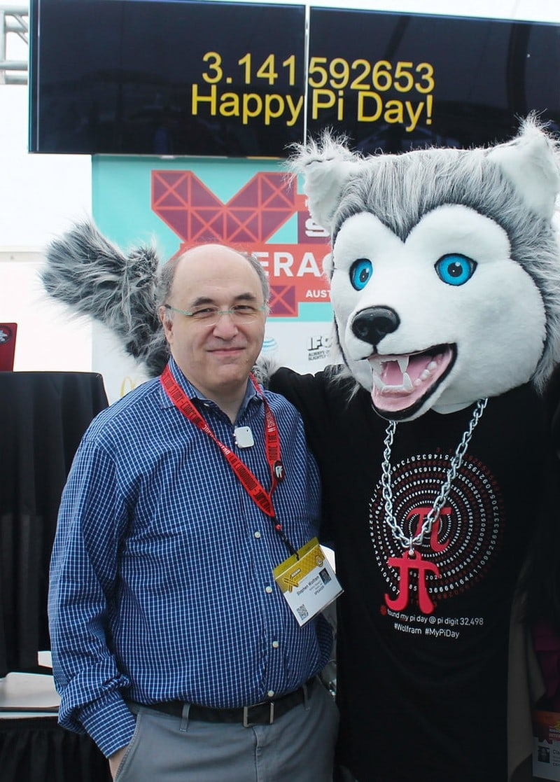 The life and times of Stephen Wolfram. 2015: Pi Day of the Century... with Wolfie...