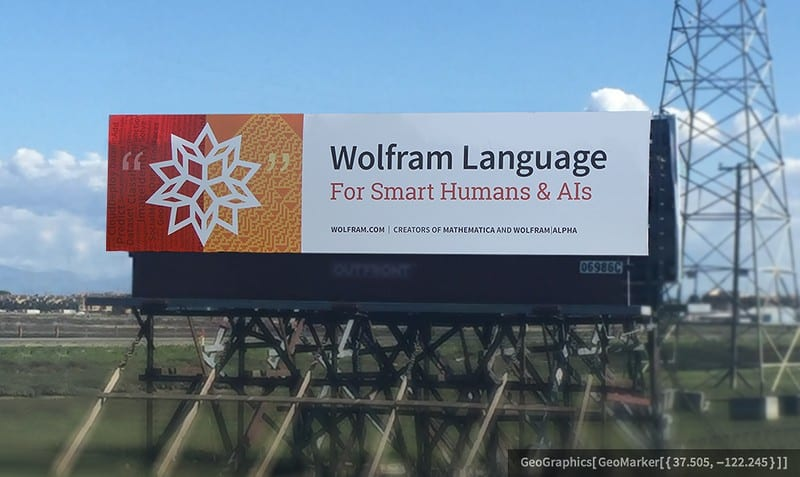 The life and times of Stephen Wolfram. 2016: Roadside Wolfram Language...