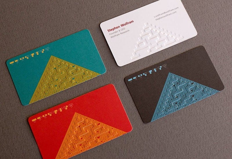 The life and times of Stephen Wolfram. 2017: Rule 30 business cards