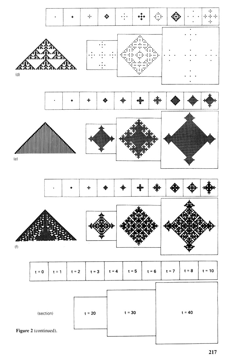 The life and times of Stephen Wolfram. 1985: Cellular automata in two dimensions...