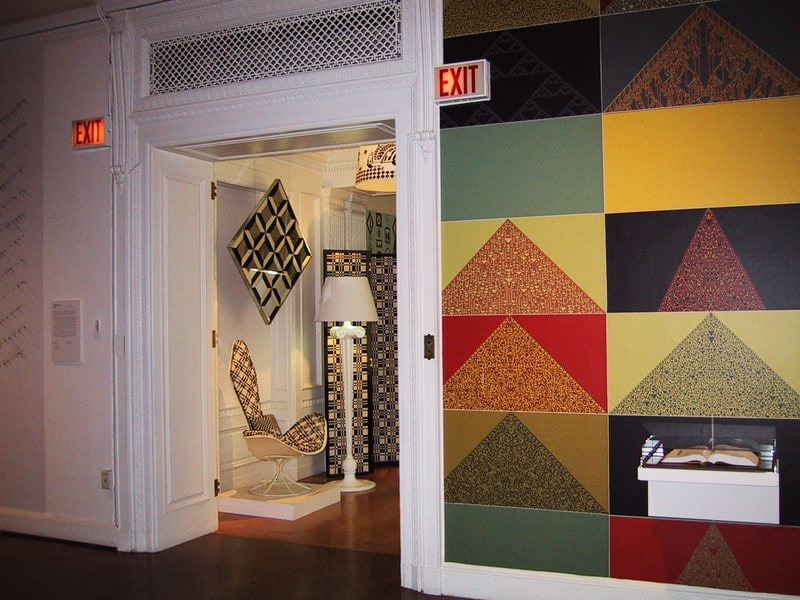 The life and times of Stephen Wolfram. 2004: NKS as art: at the Cooper-Hewitt Museum (New York)...