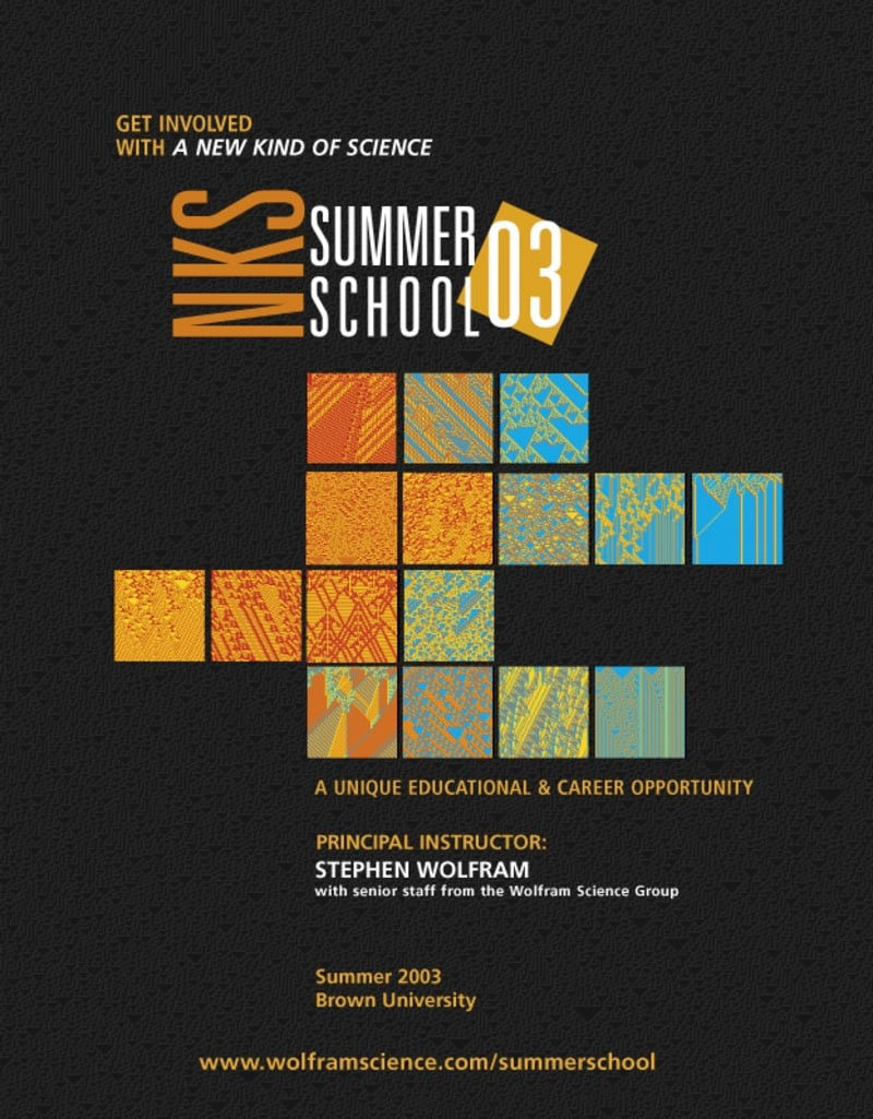 The life and times of Stephen Wolfram. 2003: The first NKS Summer School...