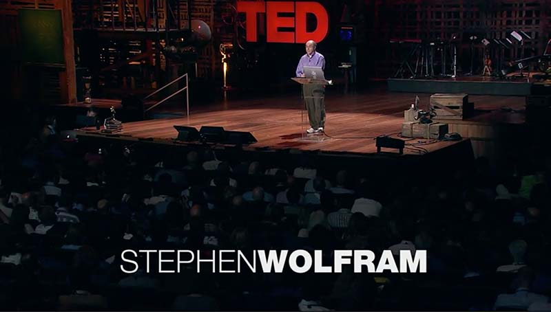 The life and times of Stephen Wolfram. 2010: Announcing a 4th project at TED