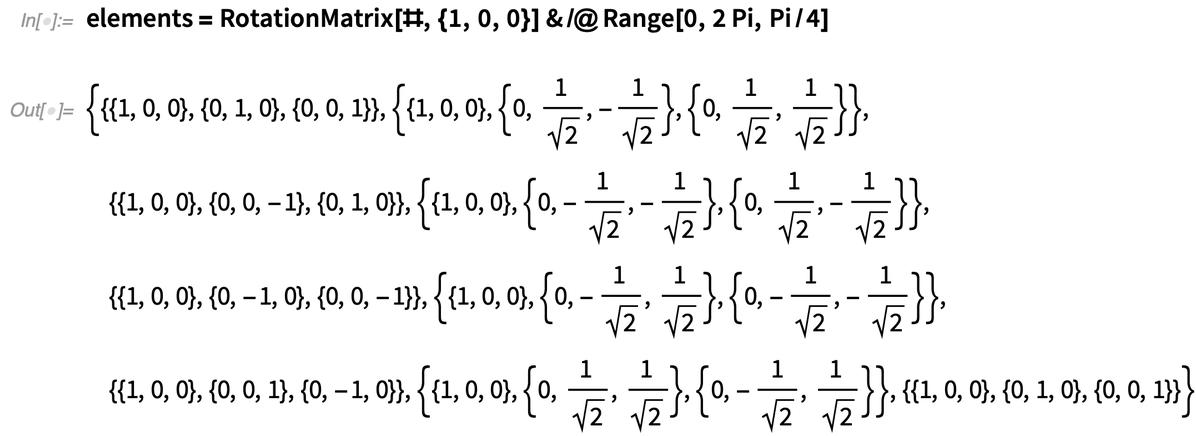 elements = RotationMatrix