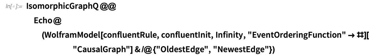 IsomorphicGraphQ @@Echo@(WolframModel