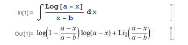Mathematica calculating an integral