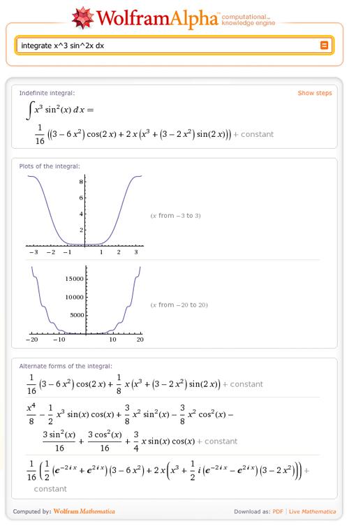 integrate x^3 sin^2x dx