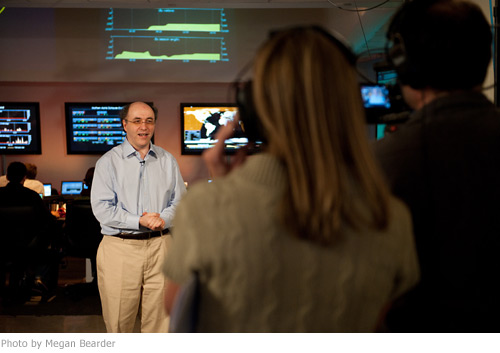 Stephen Wolfram beginning his live broadcast for the launch of Wolfram|Alpha.