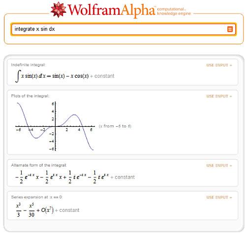 Wolfram|Alpha screenshot