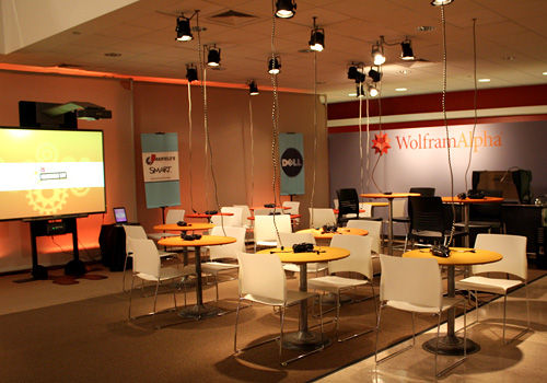 A sneak peek at the Dell sponsored Internet Cafe at Wolfram|Alpha Homework Day