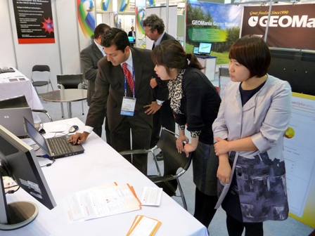 The Wolfram|Alpha booth at the OECD World Forum