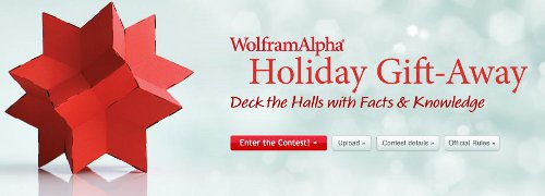 Wolfram|Alpha Deck the Halls with Facts and Knowledge Holiday Gift-Away
