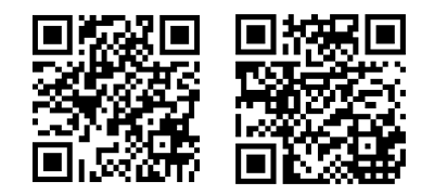 Scan these codes with a QR reader
