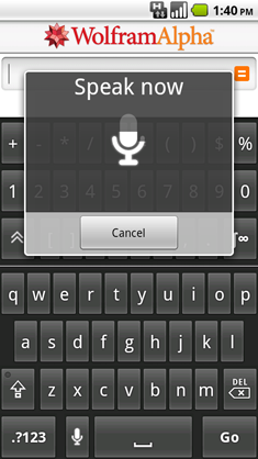 Android app voice command
