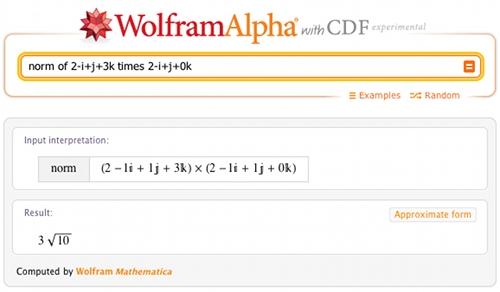 norm of 2-i+j+3k times 2-i+j+0k