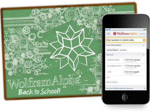 Wolfram|Alpha goes back to school