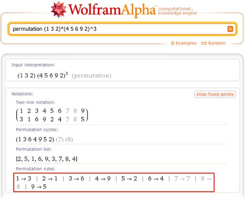 permutation (1 3 2)*(4 5 6 9 2)^3