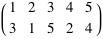 Permutation written in two-line notation